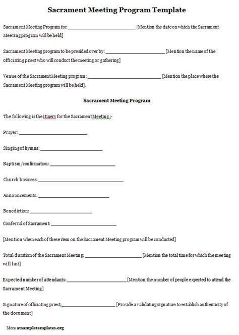 lds sacrament meeting program template lds sacrament meeting program template professional