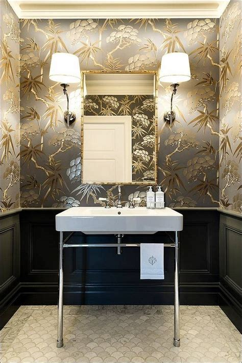 powder room designs gorgeous wallpaper ideas for your modern bathroom