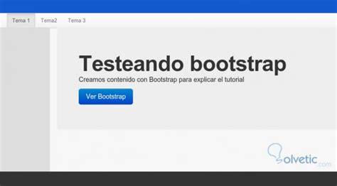 bootstrap hero tutorial maquetar un proyectos web con bootstrap 2 0 solvetic