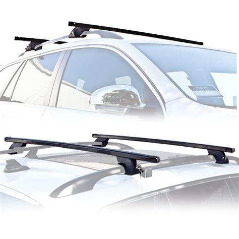 new 2 crossbar universal roof rack cross bars rails car
