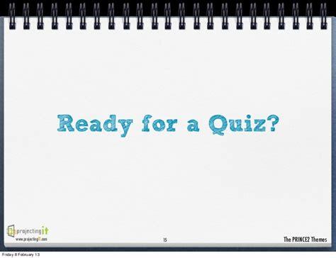 15 themes quiz prince2 themes