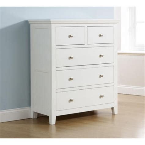 White Painted Chest Of Drawers Uk by Mountrose Venice Painted White Chest Of 5 Drawers Furniture123