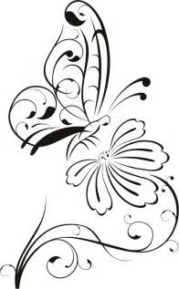 Outline Of Flowers And Butterflies by Butterfly And Flower Drawing Designs Clipart Best