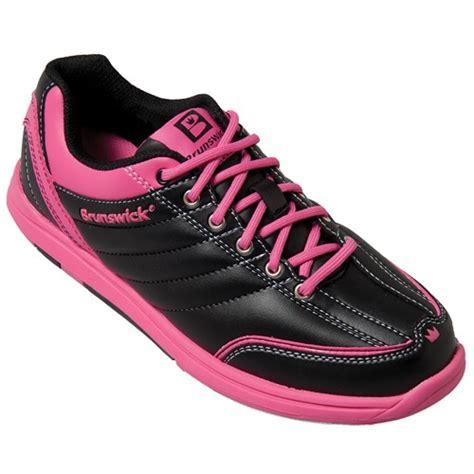 brunswick womens black pink bowling shoes