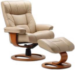 Leather recliner chair ottoman scandinavian norwegian lounge chair