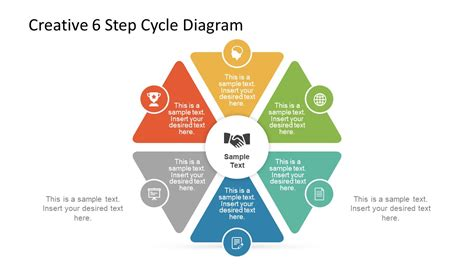 Creative 6 Step Cycle Diagram Slidemodel Creative Diagrams