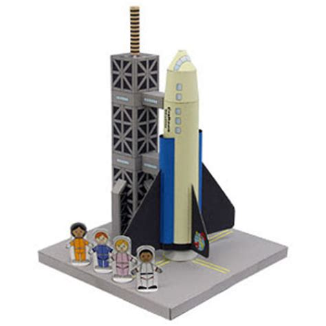 Papercraft Space Shuttle - launchpad space shuttle papercraft paperkraft net