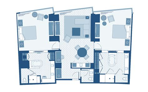 disneyland hotel 1 bedroom suite floor plan disneyland hotel 2 bedroom suite floor plan www