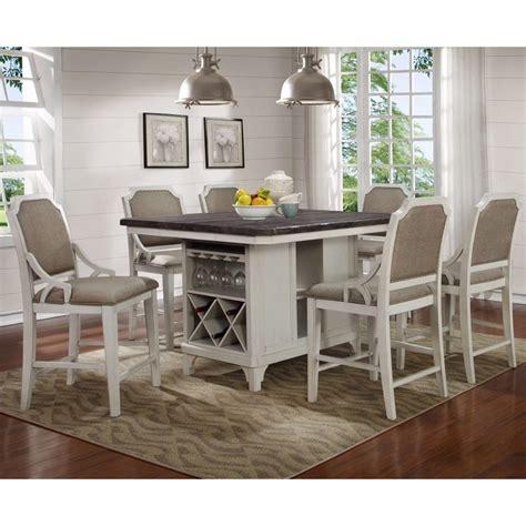 Kitchen Island Gathering Table by Avalon Mystic Cay Kitchen Island With 6 Gathering Chairs
