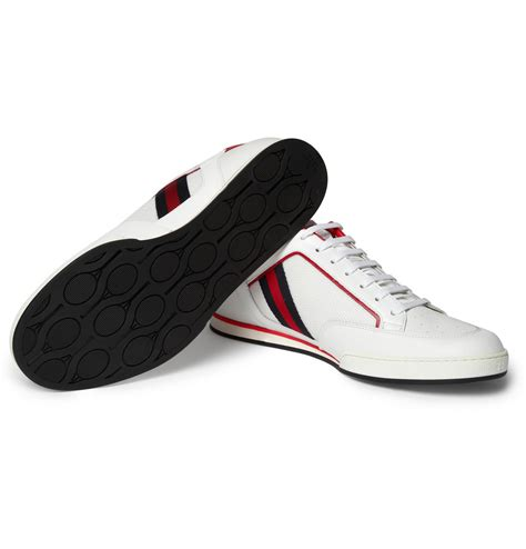 tennis shoes for gucci leather tennis shoes in white for lyst