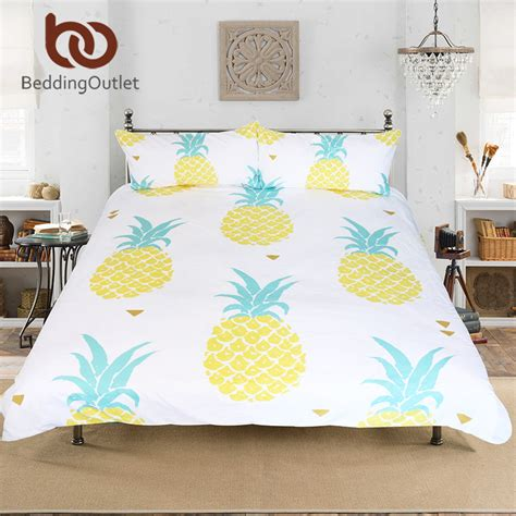 pineapple bedding beddingoutlet dropshipping pineapple bedding set sweet