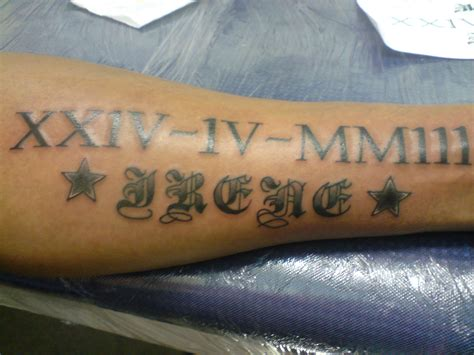 tattoos with dates numeral tattoos designs ideas and meaning tattoos