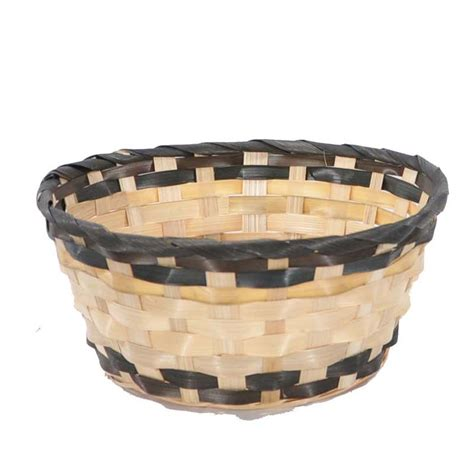keranjang cover pot anyaman set flat basket tray 12 x vintage oval bamboo