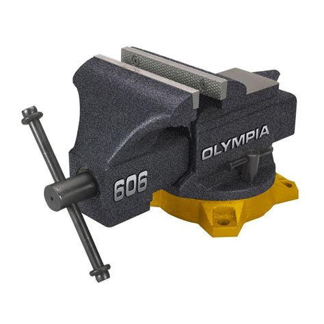 olympia 6 in bench vise 38 606 the home depot