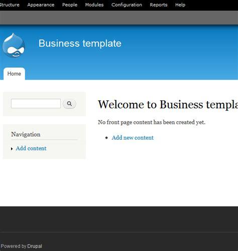 drupal theme enable implementing a drupal business theme