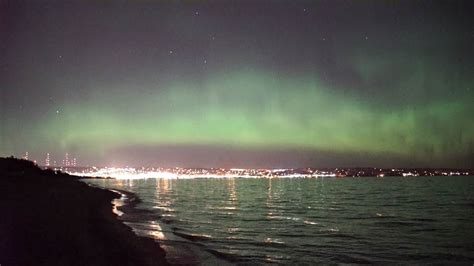 northern lights duluth mn northern lights spectacular show over lake superior nbc