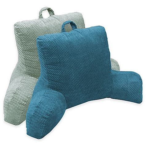 bed bath and beyond husband pillow hi lo plush hamilton backrest pillow bed bath beyond