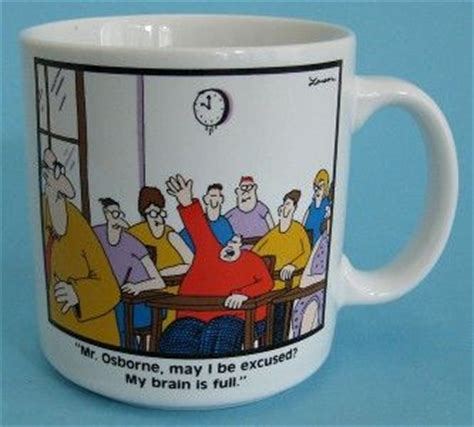 may i be excused my brain is s asperger s story books gary larson far side school mug mr osborne may i be