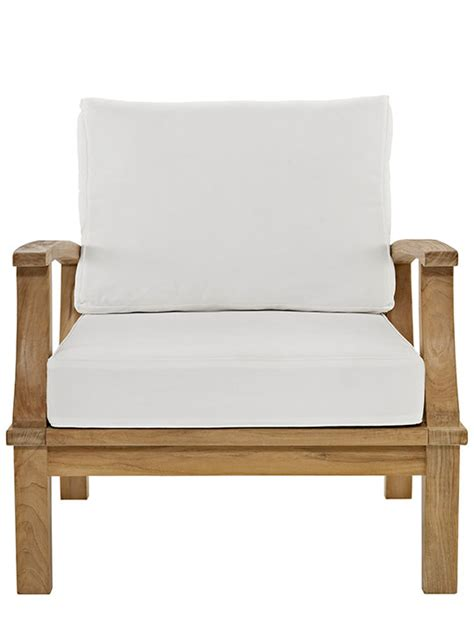 teak outdoor armchairs teak outdoor armchair modern furniture brickell collection