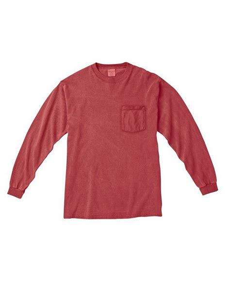 comfort color comfort colors c4410 sleeve pocket t shirt