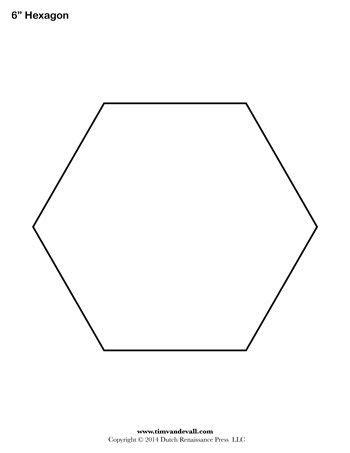 Hexagon Template 6 Inch Tim S Printables Hexagon Website Template