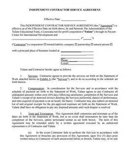 contractor agreement template free sle independent contractor agreement 12 documents in