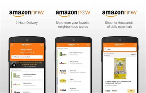 amazon now amazon takes e commerce to the next level with delivery