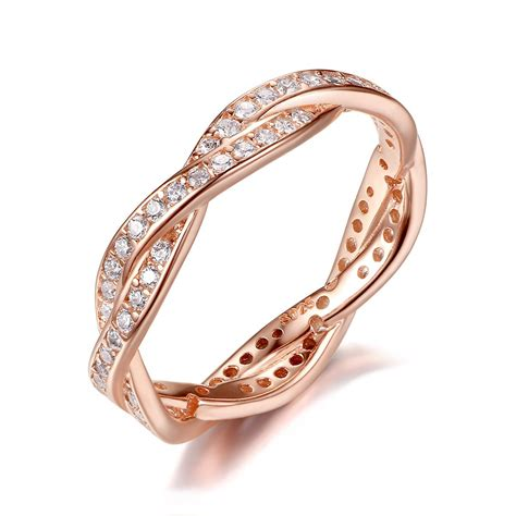 bamoer twist fate 2 bands eternity promise rings