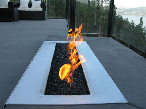 outdoor linear pit custom 36 quot linear outdoor burner modern pits