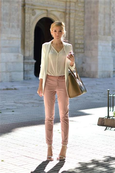 what is pinks style picture of girlish pastel work outfits for this spring 1