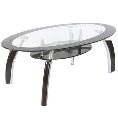 white oval coffee table coffee table oval top white black clear glass shelf