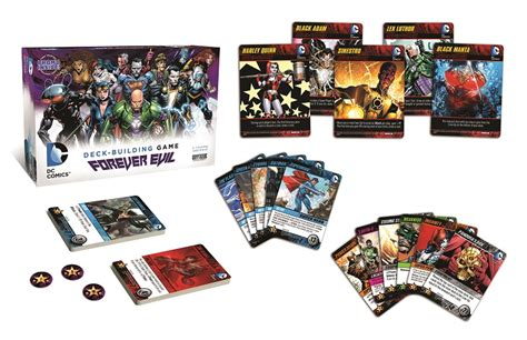 dc deck building card templates dc comics deck building forever evil cryptozoic