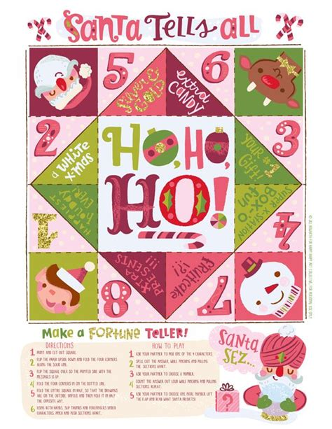 printable christmas fortune teller 208 best images about cootie catchers on pinterest