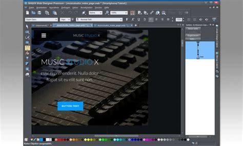 Design Vorlagen Magix Webdesigner Magix Web Designer 12 Im Test Pc Magazin