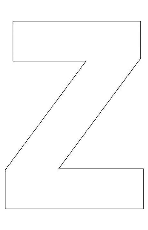 alphabet letter z template for lectoescritura