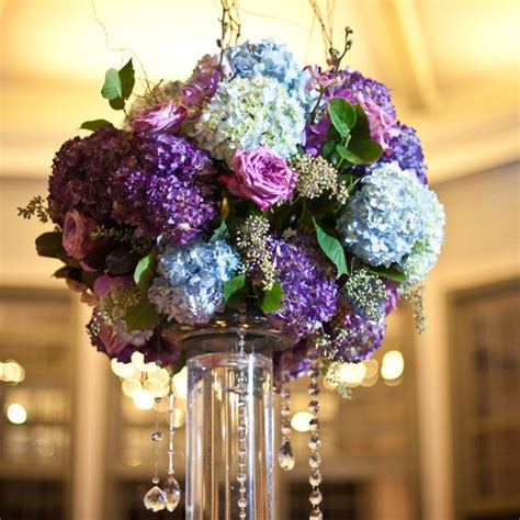 277 Best Tall Centerpieces Images On Pinterest Floral Blue And Purple Centerpieces For Weddings