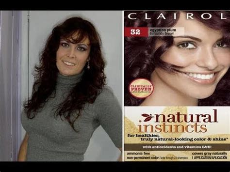 natural instincts by clairol hair color egyptain plum clairol natural instincts hair color semi demi permanent