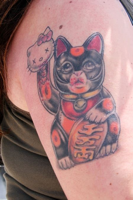 tattoo cat lucky lucky cat tattoos designs ideas and meaning tattoos for you