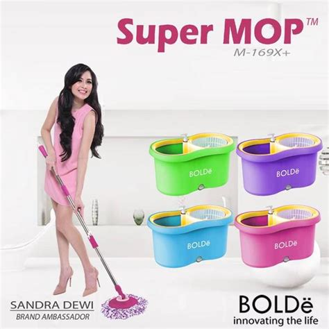 Paling Dicari Supermop Bolde 169x mop bolde m 169x alat pel m169x plus lubang drainase dan tempat sabun supermop keren