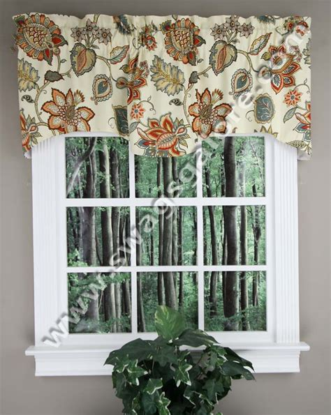 Coral Valance Curtains Scalloped Valance Coral Kitchen Valances