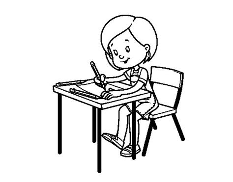 Coloring Desk For by At Desk Coloring Page Coloringcrew