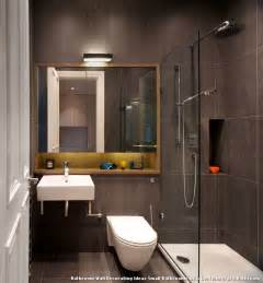 awesome Small Space Bathroom Design Ideas #1: bathroom-wall-decorating-ideas-small-bathrooms-with-contemporary-bathroom-with-a-floor-to-ceiling-gray-tile.jpg
