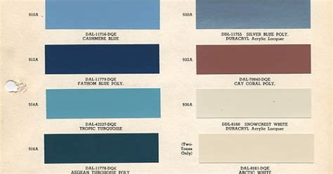 color chip selection 1958 chevy apache color charts paint chips and chips
