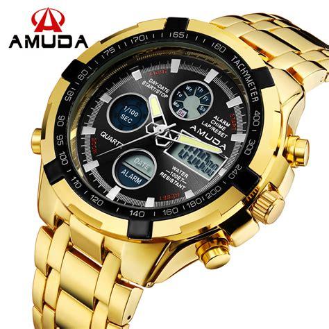 2017 fashion watches luxury brand amuda gold golden