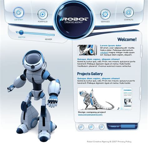 ppt templates for robotics free download design studio flash template 17259