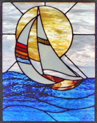 Sailboat Windows Designs Sailboat 5 Leaded Stained Glass Sailboat Window Custom Glass Design