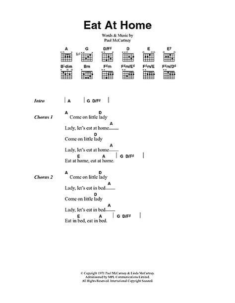 lyrics paul eat at home sheet by paul mccartney lyrics chords