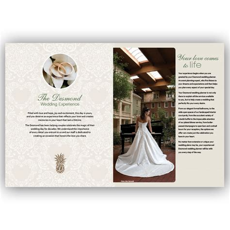 Wedding Brochure Hotel by Brochure Design Award Winning Effective Blass Marketing
