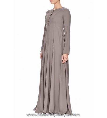 Dress Inayah 001 light colour abayas and dresses inayah ash abaya new modern fashion styles for