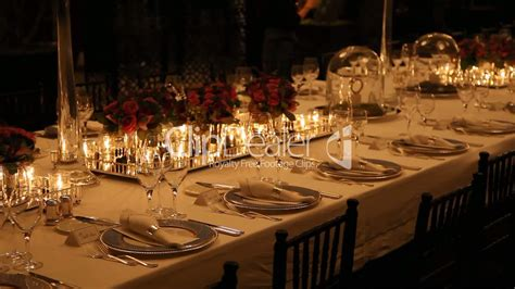 elegant dinner elegant dinner table setting royalty free video and stock